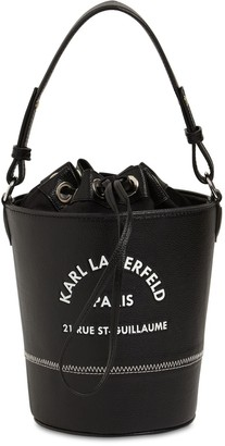 Karl Lagerfeld Paris Faux Leather Backet Bag