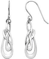 Heritage Sterling Silver Celtic Swirl Drop Earrings