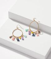 LOFT Tassel Hoop Earrings
