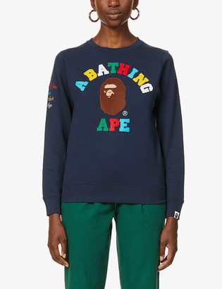 BAPE Rainbow College cotton-jersey