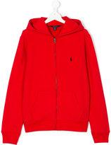 Ralph Lauren branded zip-up hoodie
