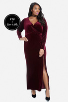 Fashion to Figure Stay The Night Velvet Gown