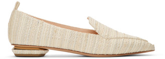 Nicholas Kirkwood White Tweed Beya Loafers