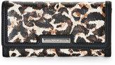 Nine West Leopard & Black It Girl Flap Wallet