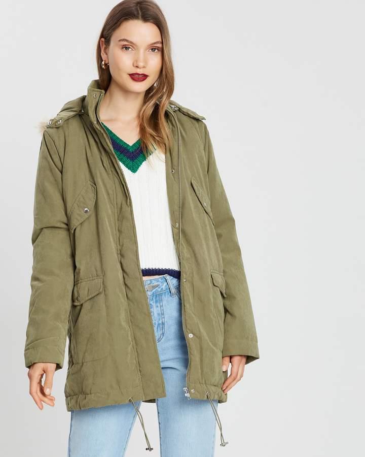 MinkPink Military Anorak Jacket