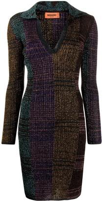 Missoni Colour-Block Knitted Midi Dress
