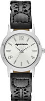 Arizona Womens Black Strap Watch-Fmdarz146
