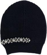 No.21 crystal embellished beanie - women - Silk/Wool/metal/glass - One Size