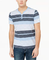 INC International Concepts Striped Henley T-Shirt, Created for Macy's