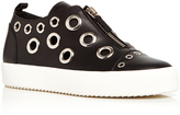 Giuseppe Zanotti May London Calf Leather Sneakers with Grommets