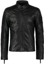 Gipsy Copper Leather Jacket Schwarz