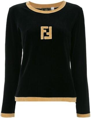 Fendi Pre Owned Long Sleeve Fitted Sweatshirt