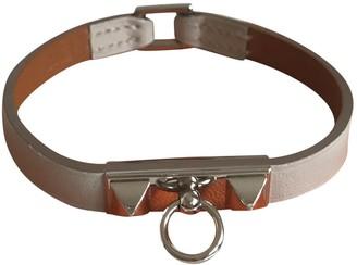 Hermã ̈S HermAs Rivale Grey Leather Bracelets