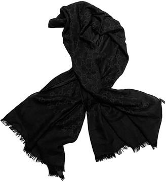 Gucci Black Cashmere Scarves