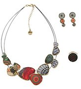 Desigual Necklace, Earring and Ring Set