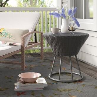 Sarthe Wicker/Rattan Side Table Lark Manor