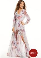 Myleene Klass Floral Deep V Front Maxi Dress