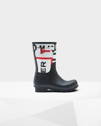 Hunter Men's Original Exploded Logo Short Rain Boots