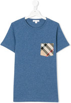 Burberry checked chect pocket T-shirt
