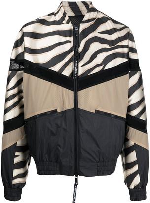 Just Cavalli Animal Colour-Block Print Jacket