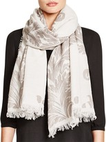 Fraas Embroidered Paisley Scarf