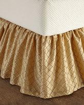 Horchow Austin Horn Classics Queen Diamond-Stitch Dust Skirt