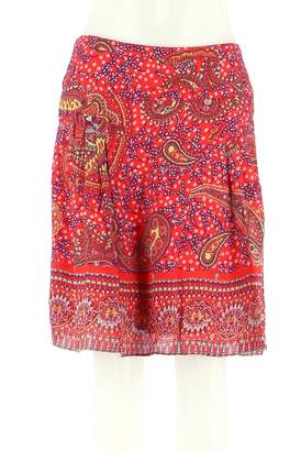 Cacharel Red Silk Skirts