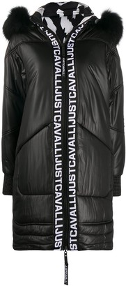 Just Cavalli Padded Midi Coat