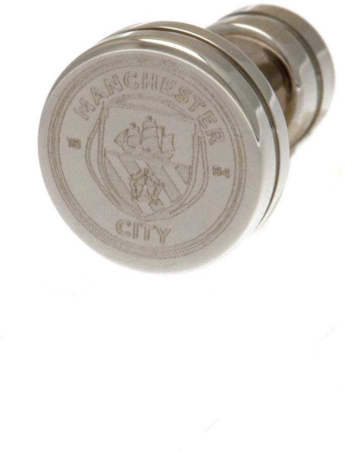 Manchester City Stainless Steel Man City Crest Stud Earring.