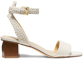 MICHAEL Michael Kors Petra Woven Ankle-Strap Sandals