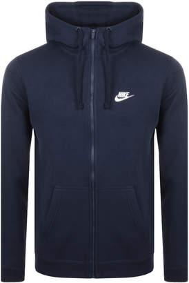 Nike Full Zip Club Hoodie Navy