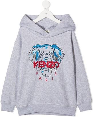 Kenzo Kids Disco Jungle embroidered hoodie