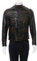 John Varvatos Distressed Leather Jacket
