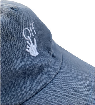 Off-White Blue Cotton Hats & pull on hats