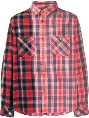 Sacai two-tone plaid shirt