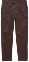 Dolce & Gabbana Slim-Fit Contrast-Trimmed Cotton Drawstring Trousers