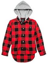 Guess Checkered Hooded Shirt