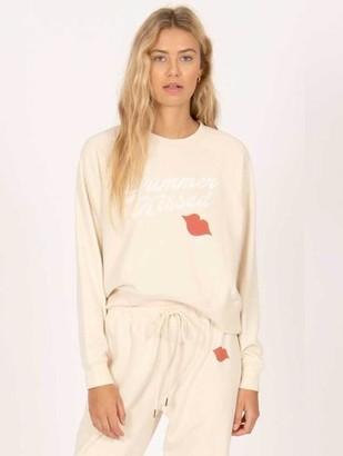 Amuse Society Summer Kissed Sweatshirt Sand - XS