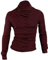 uxcell Men Pullover Turtleneck Long Sleeves Knitted Sweater