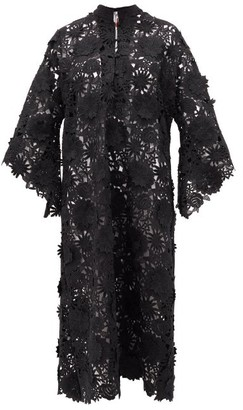 La Vie Style House - No. 305 Guipure-lace Kaftan - Womens - Black