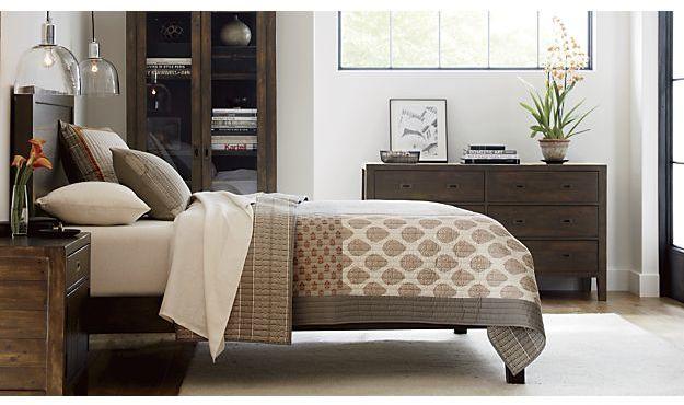 Crate & Barrel Jaipur Orange Quilt and Pillow Shams
