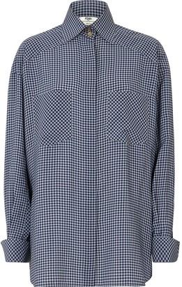 Fendi Vichy Pattern Shirt