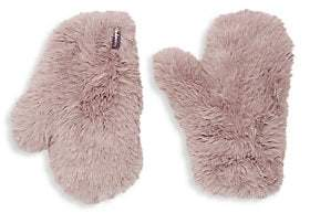 Glamour Puss Glamourpuss Women's Signature Knitted Faux Fur Mittens