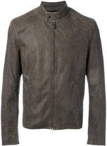 Drome band collar jacket - men - Lamb Nubuck Leather - 48