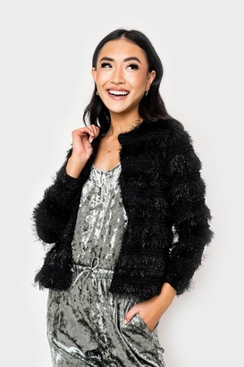 Gibson Anna Eyelash Collarless Soft Jacket
