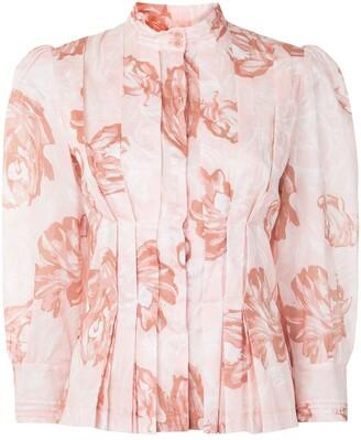 Karen Walker Gardenesque floral-print cotton shirt