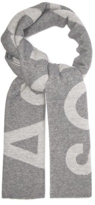 Acne Studios Toronty Wool-blend Scarf - Mens - Grey