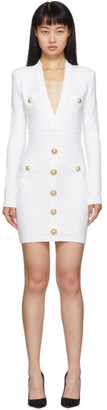 Balmain White Knit Short Dress