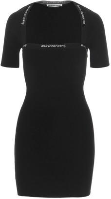 Alexander Wang Logo Bodycon Dress
