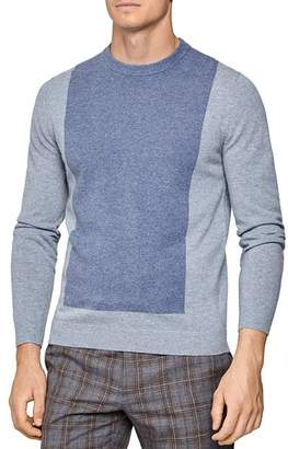 Reiss Cassidy Color-Block Wool & Cashmere Crewneck Sweater